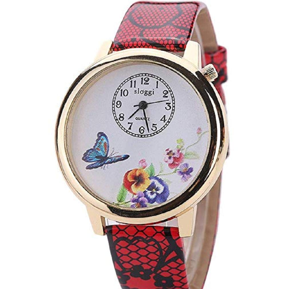 Scpink Relojes de Flores para Mujeres 4bff17c233df