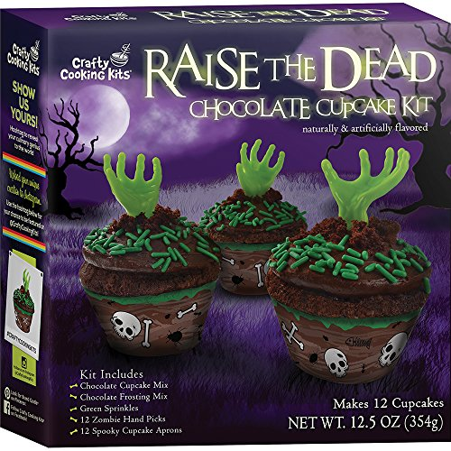 [Crafty Cooking Kits Raise the Dead Cupcake Kit, Chocolate, 12.5 Ounce] (Cupcakes Frosting Halloween)