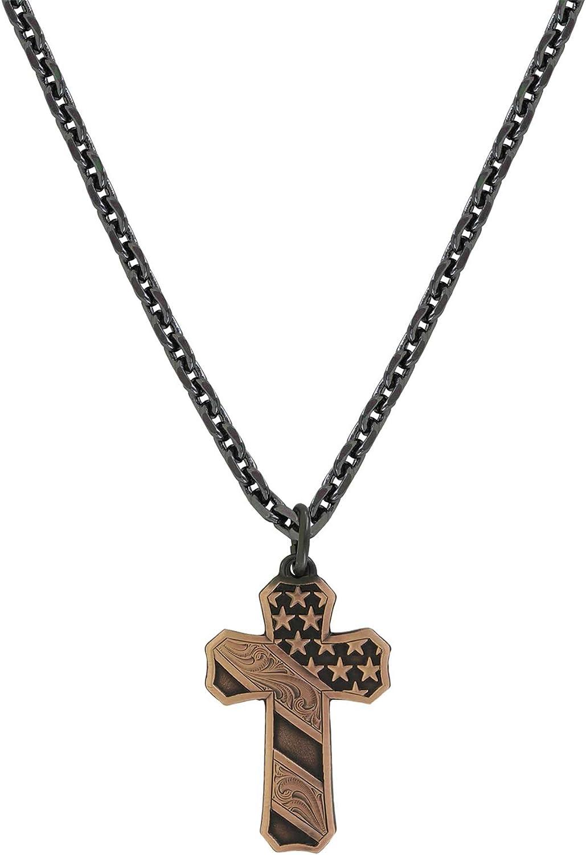 Montana Silversmiths Mens Faded Glory Cross Pendant Necklace