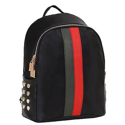 good Leegor Girls Stylish Stripe Rivet Backpack Shoulder Bag Waterproof Travel SchoolBag