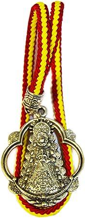 Colgador de Coche de la Virgen del Rocío. Cuelga Coche con cordón del Color de la Bandera de España. Medid Total: 26.5 cm Aproximadamente.: Amazon.es: Equipaje
