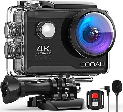 Amazon.com: COOAU 4 K 20 MP cámara de acción Wi-Fi micrófono ...