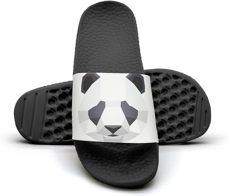 Geometry Panda Mens Shower Athletic Slides Sandal Slippers Flip Flops