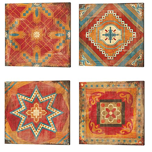Moroccan Tiles by Cleonique Hilsaca, 4 Piece Canvas Art Set