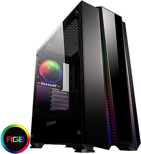 Game Max Phantom Mid-Tower RGB PC Gaming Case, ATX, Rainbow LED ...