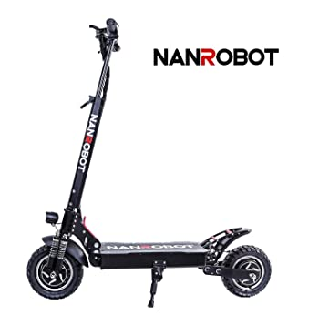 NANROBOT D4+ High Speed Electric Scooter-10 inch Tires,2000W Motor Power Allow for of 40 MPH Speed, 45 Miles Range and 330lb Load