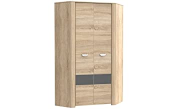 eckkleiderschrank sonoma eiche bestseller shop f r m bel und einrichtungen. Black Bedroom Furniture Sets. Home Design Ideas