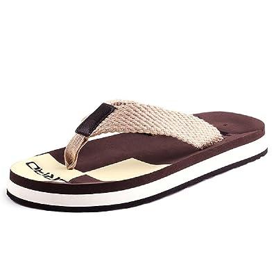 5a362992202bc Emp Summer Men s Braided Strap Sandals Beach Anti Slip Thick Sole Flip Flops