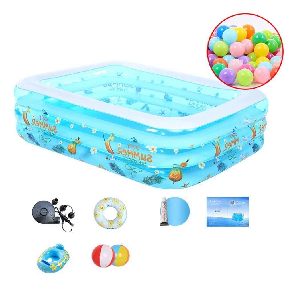 para barato 308x182x60cm GG-Inflatable Pools Piscina Infantil Inflable para niños niños niños y Adultos, azul y blanco  alto descuento