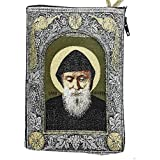 Icon Case Pouch Coin Purses Tapestry Prayer With Saint ST Charbel Makhluf 5.7
