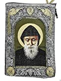 Icon Case Pouch Coin Purses Tapestry Prayer With Saint ST Charbel Makhluf 5.7''