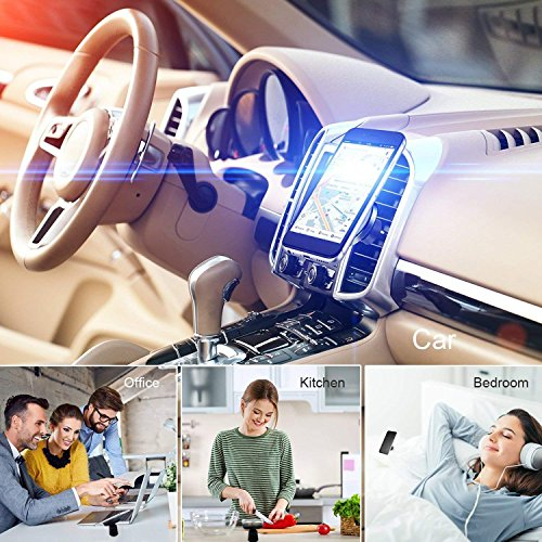 Fast Wireless Car Charger Magnetic Charging Pad Car Mount on Dashboard and Air Vent Phone Holder for Samsung Galaxy S9 (Plus) Note 8 S8 Standard Wireless Charging for iPhone X/8 Plus by Spedal (Image #4)