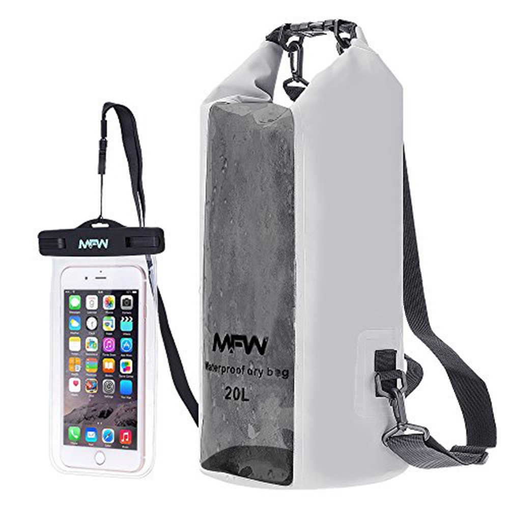 MFW Waterproof Dry Bag Dry Bag Backpack with Waterproof Phone Case for Kayaking, Boating, Surfing, Rafting, Canoeing, Hiking, Fishing by MFW