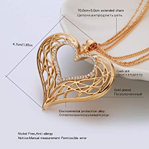 Chic Women Hand Jewelry Gold Plated Hollow  Rose Carving Crystal Bracelets/_H