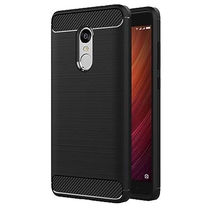 iVoler Funda para Xiaomi Redmi Note 4 / Xiaomi Redmi Note 4X, Diseño de Fibra de Carbon Ultra Fina TPU Silicona Carcasa Fundas Protectora con Shock- ...