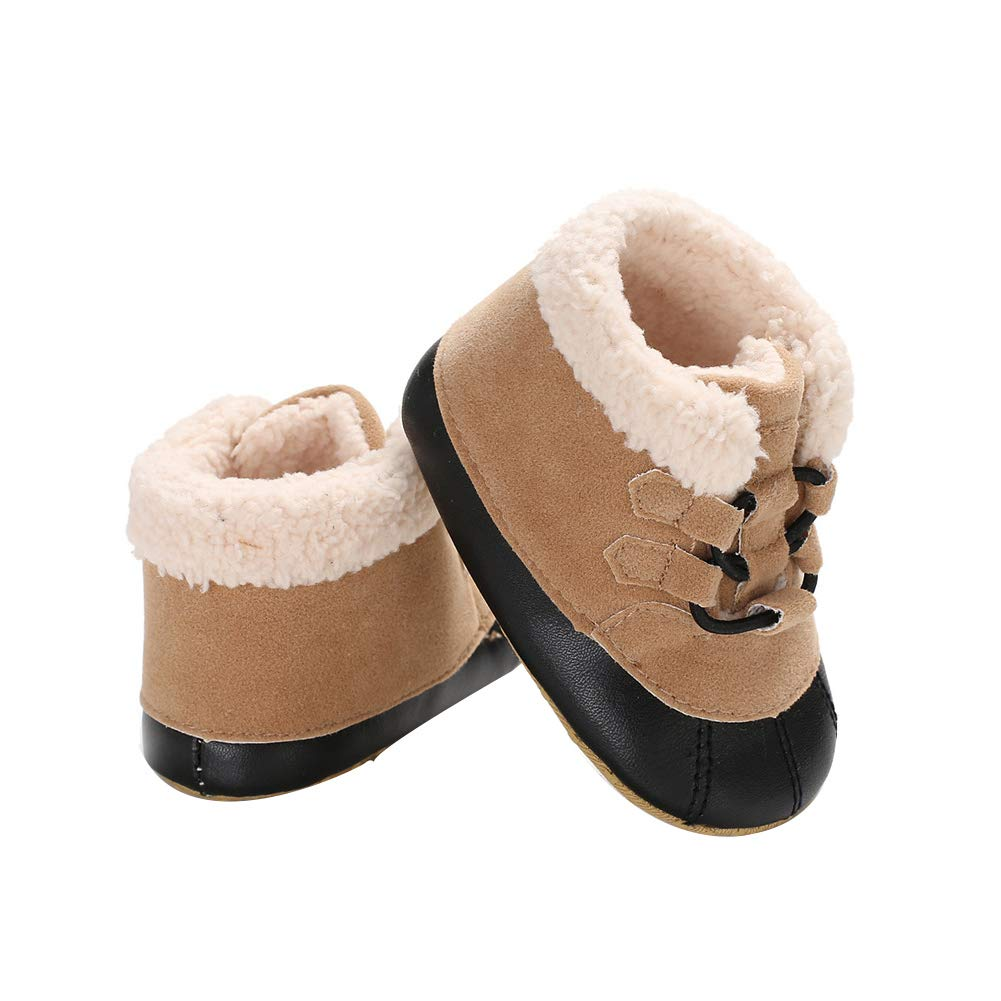 Alamana Fashion Newborn Toddler Baby Kids Girls Boys Anti-Slip Soft Sole Flats Shoes Pink 12cm