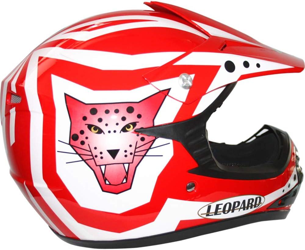 Leopard LEO-X17 Casco da Motocross per Bambini e Occhiali e Guanti da Motocross per Bambini Cross e off-Road Motocicletta ATV Quadrilatero ECE 22-05 Approvato