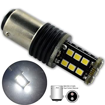 Ruiandsion - 2 bombillas LED Canbus BA15D 1142 1078 DC 12-24V 5W super brillante