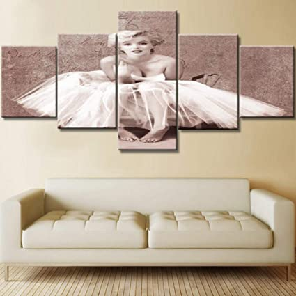 Amazon Com Marilyn Monroe Canvas Pictures Bare Foot Girl Painting