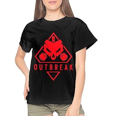 Rainbow Six Siege Women's Cotton Short Sleeve Crewneck T-Shirt Black
