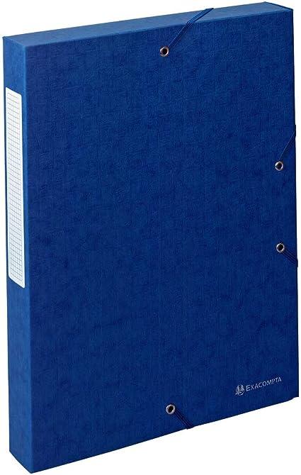 Carpeta de proyecto con goma color azul Exacompta 50812E