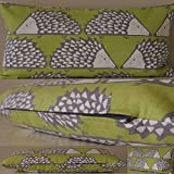 Scion Spike Fabric. Kiwi 24x12 (60cmx30cm) Cushion with Hollowfibre Pad by Jessica Anna