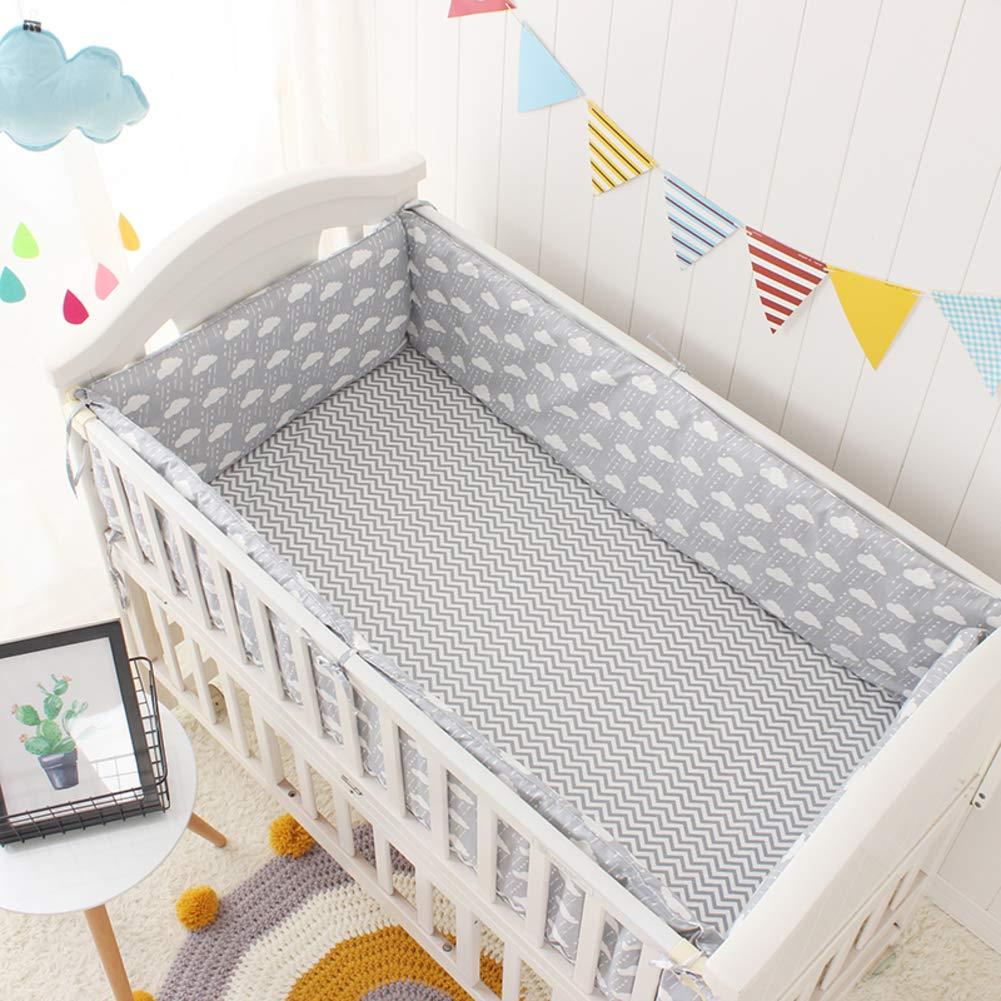 Xxn 赤ん坊のまぐさ桶のバンパーをコットン,無衝突ベビーベッド バンパー,赤ちゃんの寝具の設定 保育園ゆりかご装飾 ベビーベッド寝具安全プロテクター2-A 140x70cm(55x28inch) 140x70cm(55x28inch) A B07KY6KFNY