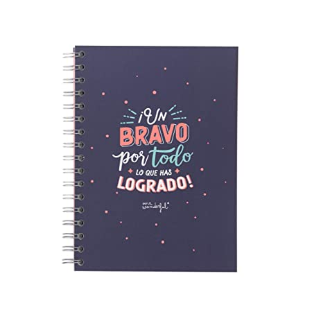 Mr. Wonderful Libreta A5-Un Bravo por Todo lo Que has logrado ...