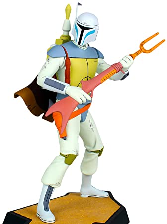 Amazon.com: Star Wars Boba Fett Holiday Special Animated Maquette ...