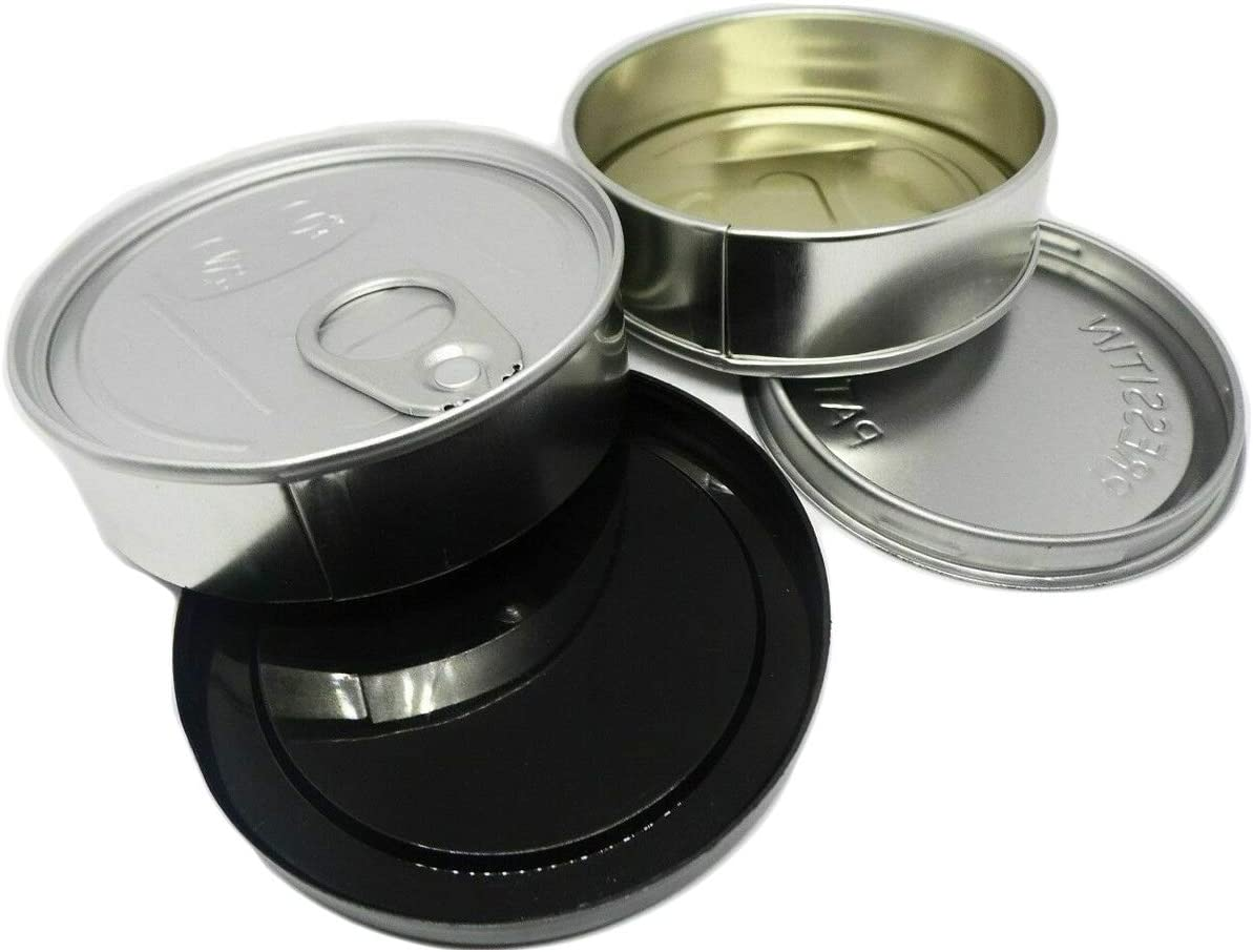 Cali Press In Self-seal Tin Can with Lid - NO TOOLS NEEDED - 100ml/3.5g (60 sets)