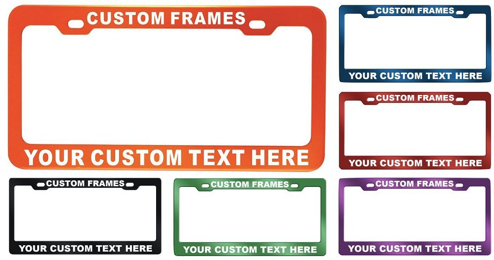 GoPlates Customized Heavy Duty License Plate Frame