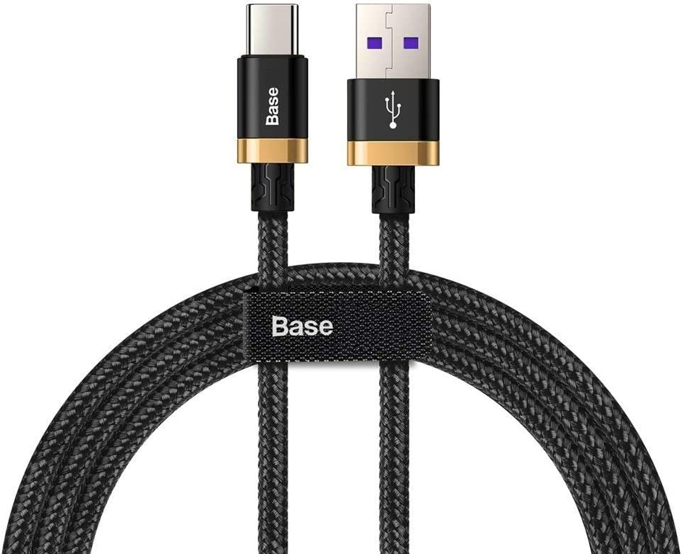 Base Braided Cable High Speed 5A Super Quick Charge 40W (USB toType-C) Flash - Data Charging Cable Compatible with Huawei (1m)