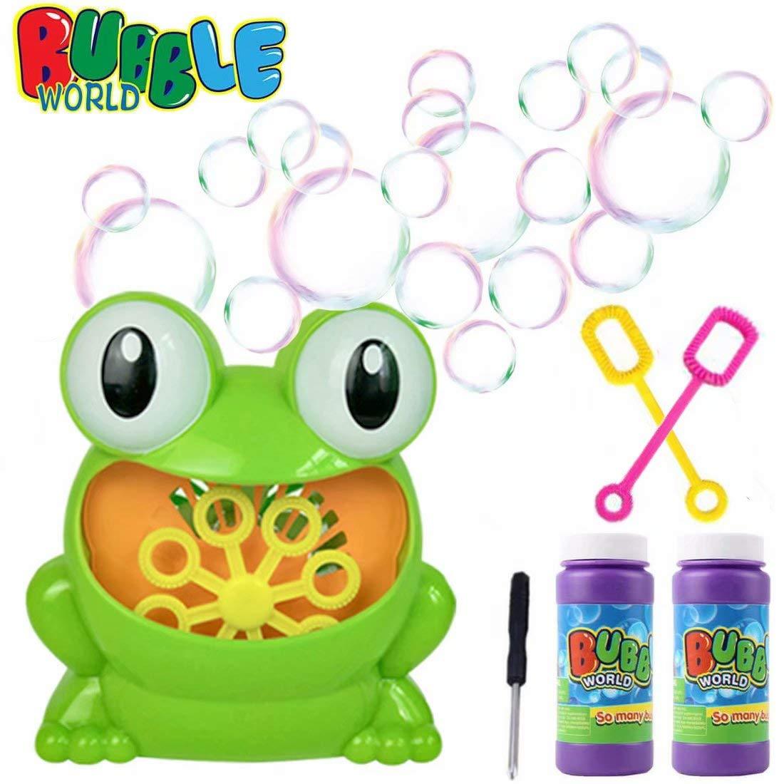 JTORD Bubble Machine Automatic Bubble Blower Durable Portable Bubble Maker For Kids with 2 Bubbles Solution 2 118ml Over 500 Colorful Bubbles Per Minute for Christmas Parties Wedding