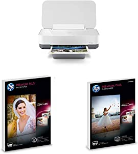 HP Tango Smart All-in-One Printer, Bundled with 50 Sheets of Photo Paper – Designed for Your Smartphone with Remote Wireless Printing, HP Instant Ink & Amazon Dash Replenishment Ready