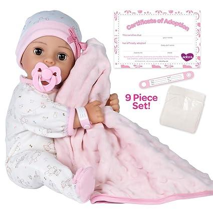 Amazon Com Adora Adoption Baby Cherish 16 Inch Vinyl Girl Newborn