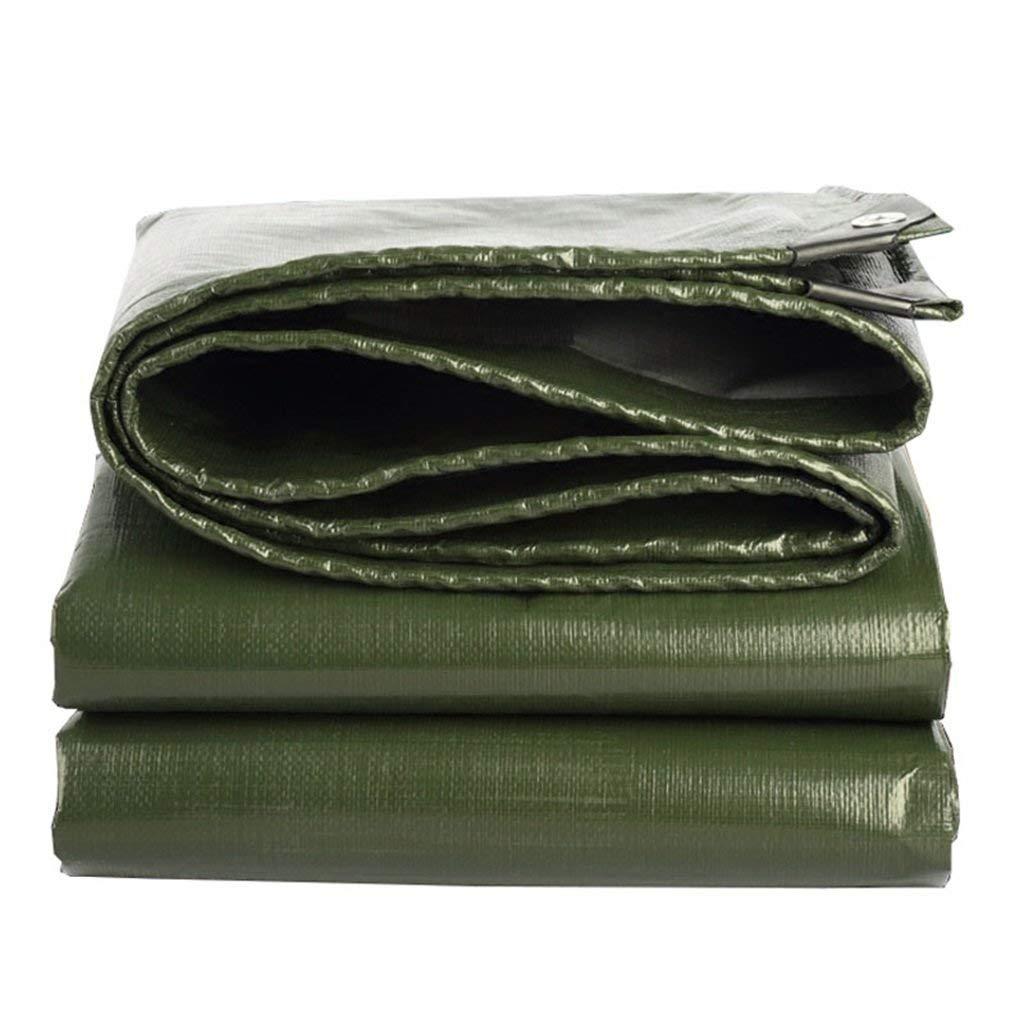 JKL Tenda Resistente all'Aria Aperta Impermeabile della Tela Cerata della Tela Cerata, Antipioggia protetta Contro Il Vento UV, Spessore 0.35mm, 180g   m², 12 Dimensioni Disponibili, verde