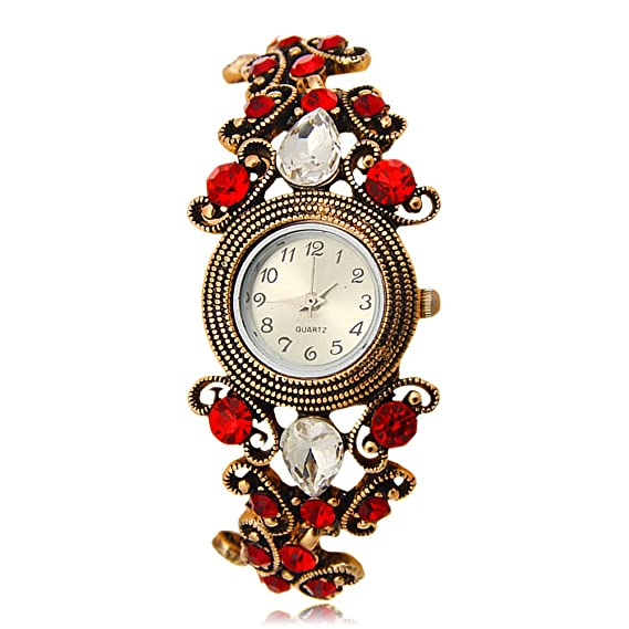brojet B011 Niñas Reloj el nuevo estilo caliente vender moda y Retro incrustaciones Zircon pulsera regalo reloj: Amazon.es: Relojes