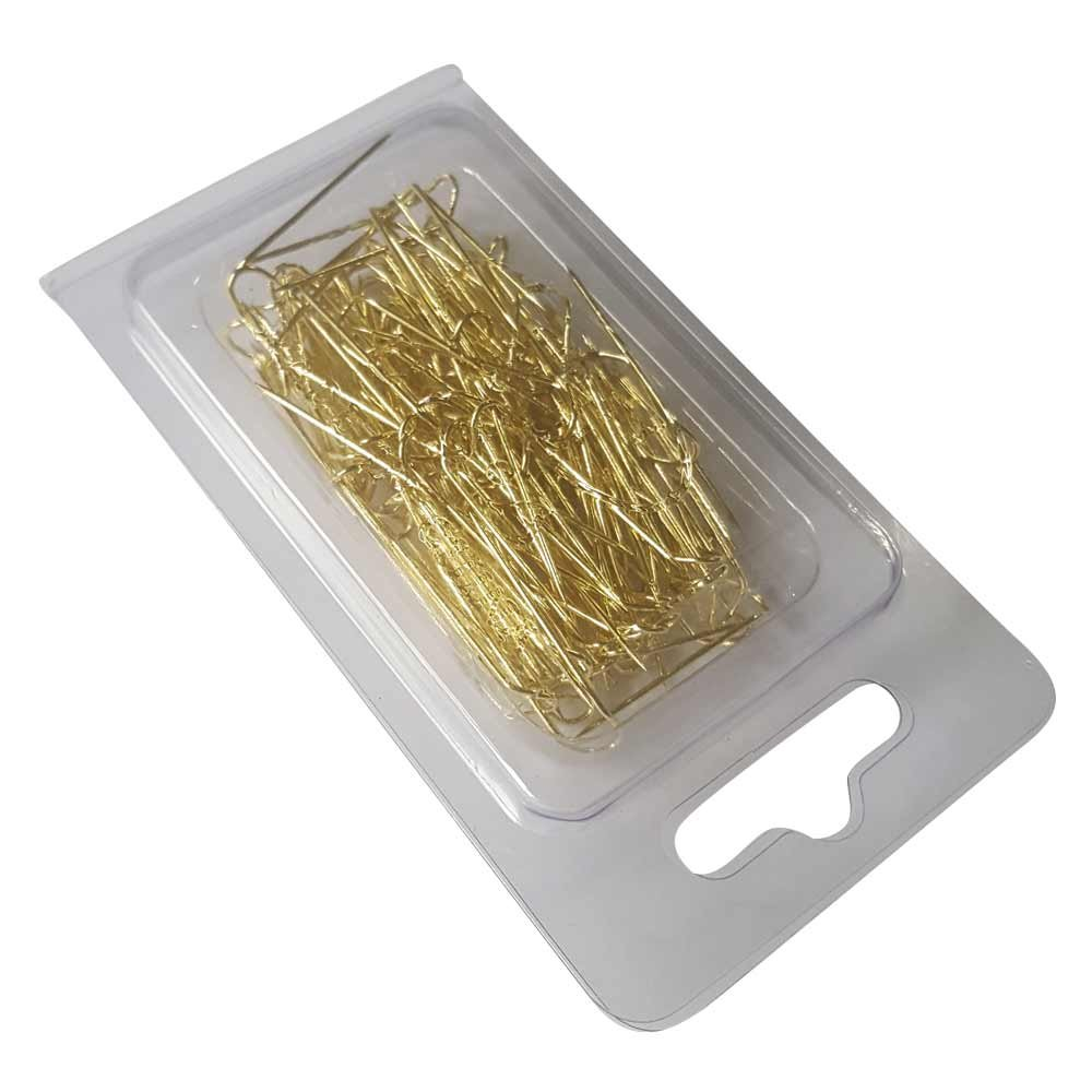 Gold U Shaped Jewelry Pins – Pack of 100