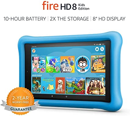 Amazon Com Fire Hd 8 Kids Edition Tablet 8 Hd Display 32 Gb Blue Kid Proof Case Previous Generation 8th Kindle Store