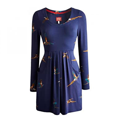 3fb27cf3922107 Joules Alexi Ladies Jersey Tunic (R) - Navy Pheasant - 16  Amazon.co.uk   Clothing