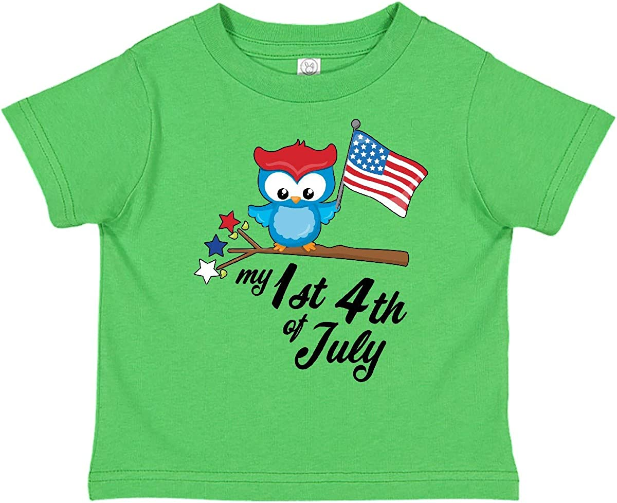inktastic 4th of July with Hat Flags and Stars Toddler T-Shirt