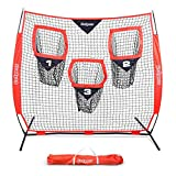 GoSports 6' x 6' Football Training Target Net | Improve QB Throwing Accuracy - Includes Foldable Bow Frame and Portable Carry Case