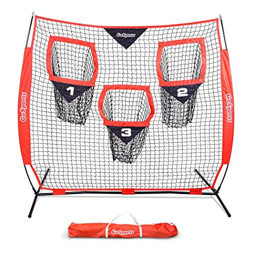 (GoSports 6' x 6' Football Training Target Net | Improve QB Throwing Accuracy - Includes Foldable Bow Frame and Portable Carry Case)