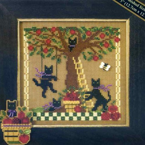 Apple Adventure Beaded Counted Cross Stitch Kit Mill Hill MH147201 Buttons Beads 2007 Autumn