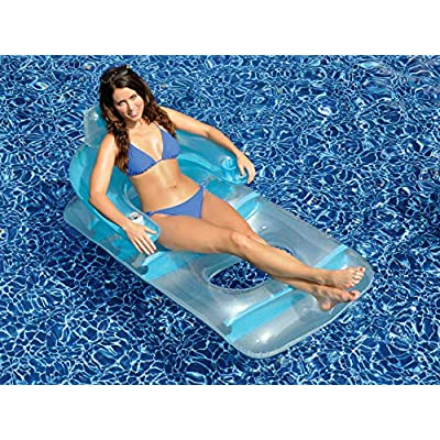 Swimline Deluxe Lounge Chair Colors May Vary (Pink or Blue): Toys & Games