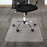 "Office Marshal Polycarbonate Chair Mat for High Pile Carpet Floors, 36"" x 48"" - Multiple Sizes - Clear, Studded, Carpet Floor Protection Mat"
