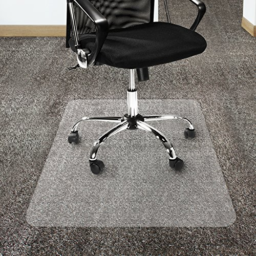 "Office Marshal Polycarbonate Chair Mat for High Pile Carpet Floors, 36"" x 48"" - Multiple Sizes - Clear, Studded, Carpet Floor Protection Mat -  4251132400084"