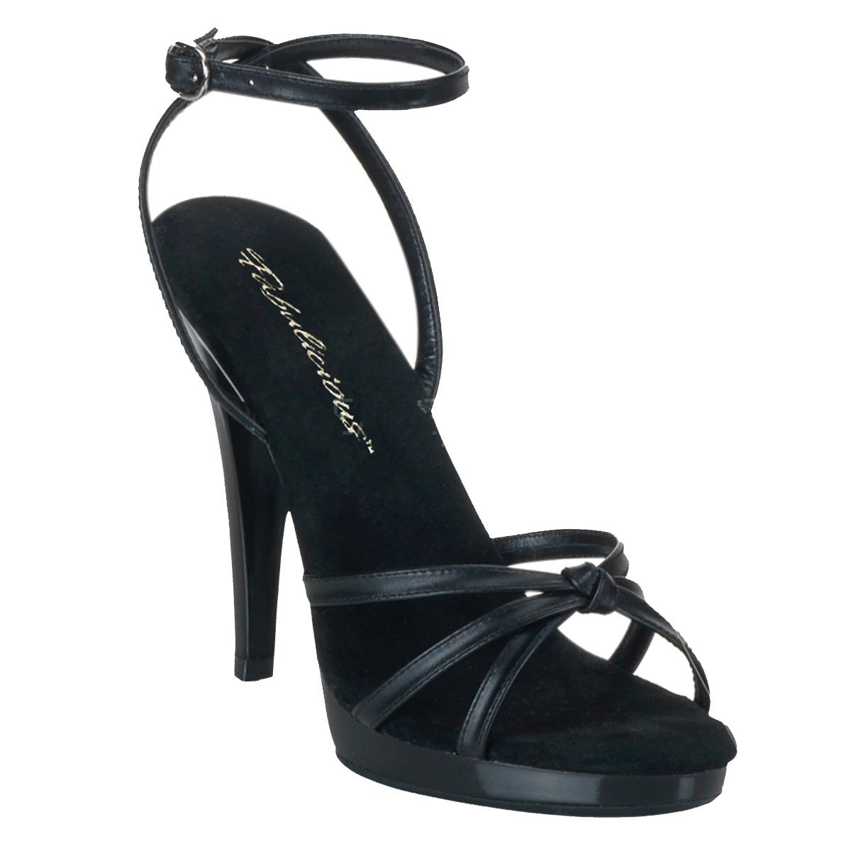 Pleaser Women's Flair-436/W/M Platform Sandal B00HV9ZOUE 12 B(M) US|Black Leather/Black