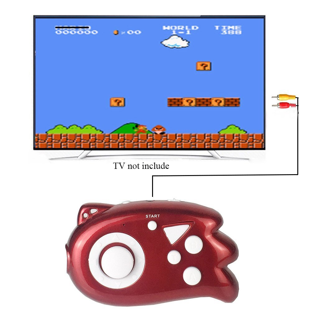 JJFUN Mini TV Handheld Game Console Player for Kids, Connect and Play 89 in 1 Retro Classic Games, Old School Arcade Style Plug & Play Video Games Controller for Children Boys Girls 4-12 Years Old-RED
