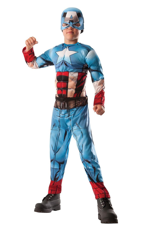 Rubies - Disfraz de Hulk a Capitán América de Marvel Avengers Asassembly, Talla Grande